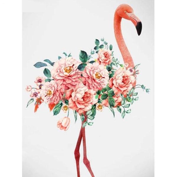 Full 5D DIY Diamond Painting Cross Stitch Flamingo Home Rhinesto Som på bilden 1