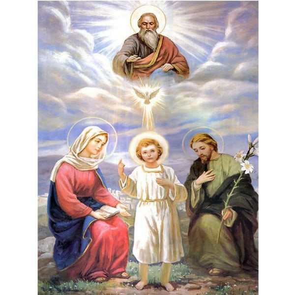 Full 5D DIY Diamond Painting Cross Stitch Holy Angels Rhinestone Som på bilden 1