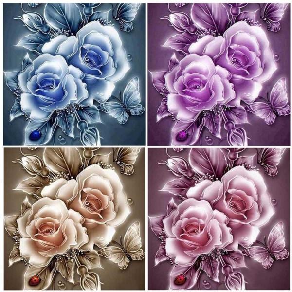 """Full 5D DIY Diamond Painting Cross Stitch """"Rose Sale"""" Broderi Mo Som på bilden 4"""