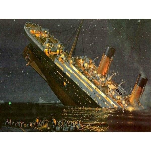 "Full 5D DIY Diamond Painting Cross Stitch ""Titanic"" Broderi Mosa Som på bilden 1"