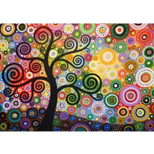 Full 5D DIY Diamond Painting Cross Stitch Tree Broderi Mosaic Rh Som på bilden 1