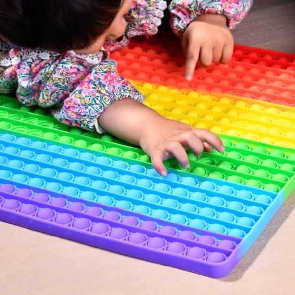 mega / stor fidget toys pop it leksak sensory regnbåge 40cm