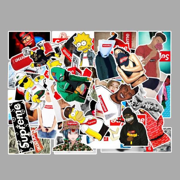 Supreme klistermärken / stickers 50 pack