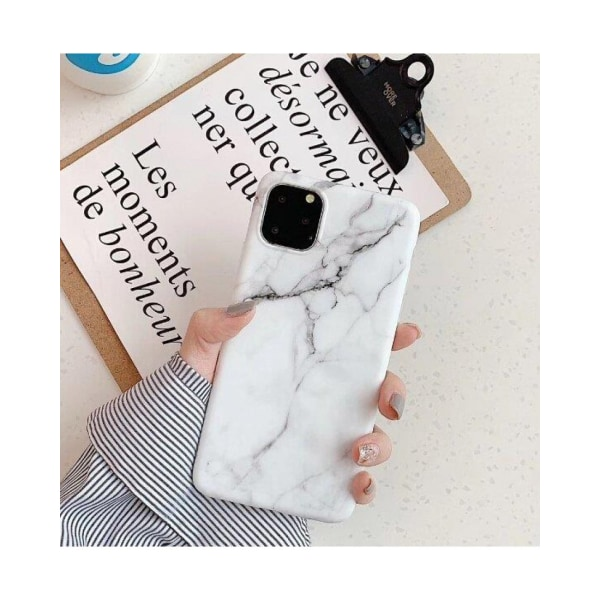 Xiaomi Redmi 9A / 9AT • Mobilskal • Marble Case • Vit