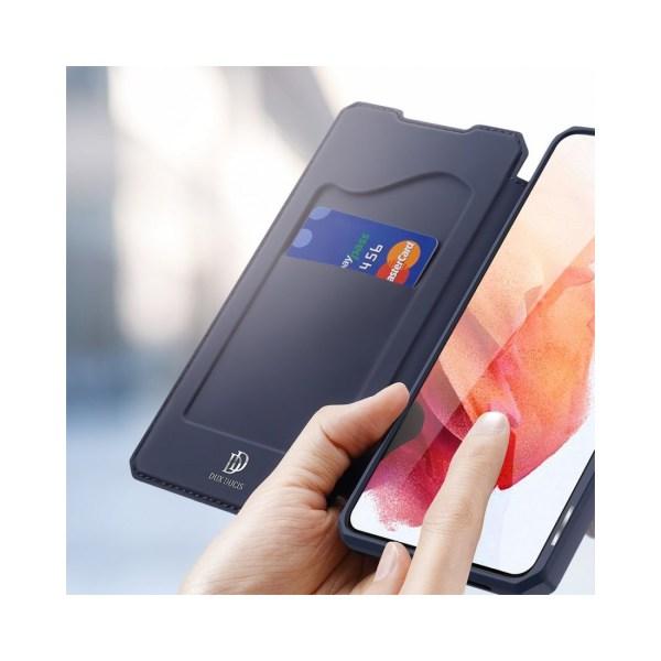 Samsung Galaxy S21 • Plånboksfodral • DUX DUCIS Skin X • Mörk...