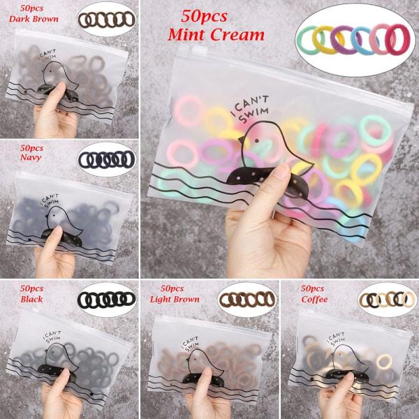 50 st / set barn hår rep nylon gummiband elastiska hår