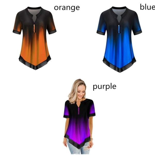 Kvinnors T-shirt kortärmad LILA 4XL = UK STORLEK 20 4XL = UK STORLEK 20