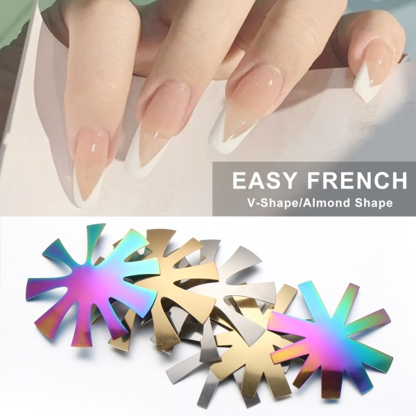 6st Easy French Smile Cut V Line Pro 9 Storlek Silverguld