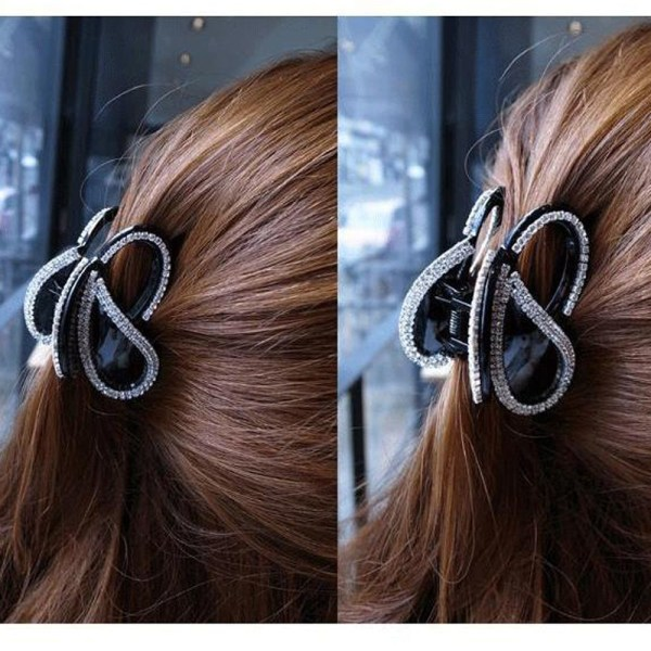 Butterfly Hair Clip Hairpn Claw SVART