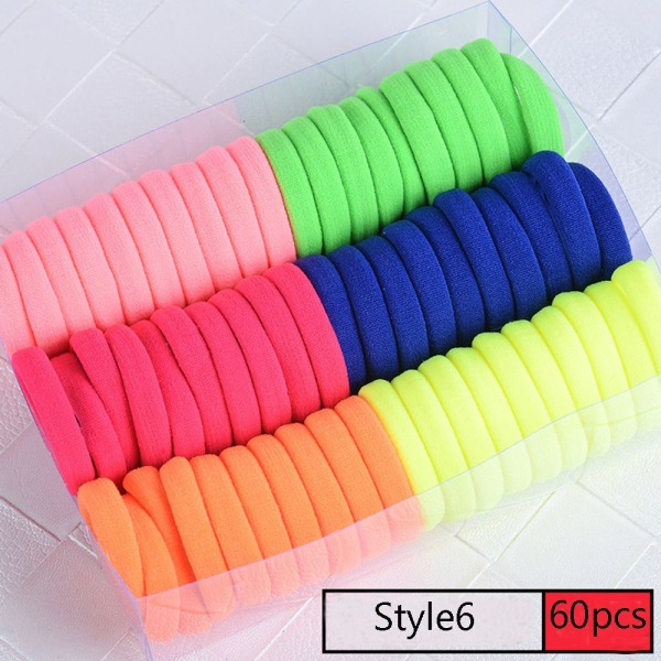 40/60 st elastiska hårband Gummiband elastiska STYLE6 60ST