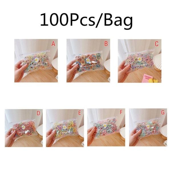 100x hårring elastiskt gummiband EE