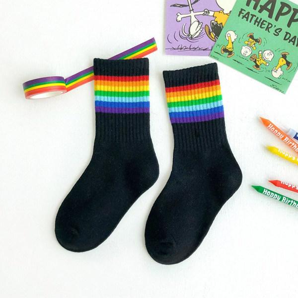 Flickor Barn Strumpor Sweet Rainbow M2 2