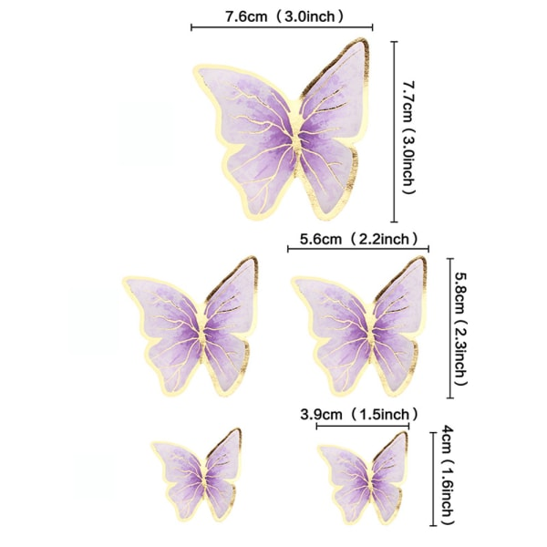 Cake Toppers Butterfly 2 2