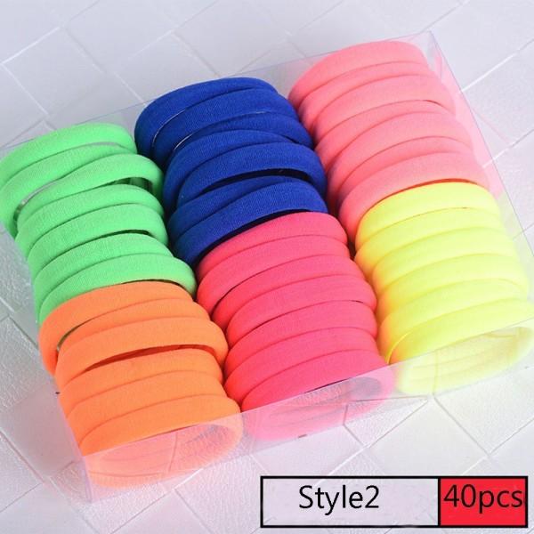 40/60 st elastiska hårband Gummiband elastiska STYLE2 40ST