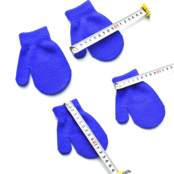 Stickade handskar Full Finger Vantar Vinterhandske DARK BLUE