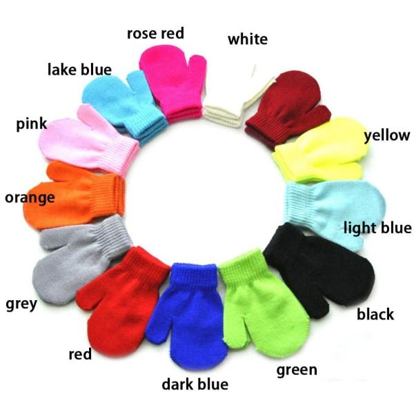Stickade handskar Full Finger Vantar Vinterhandske RÖD