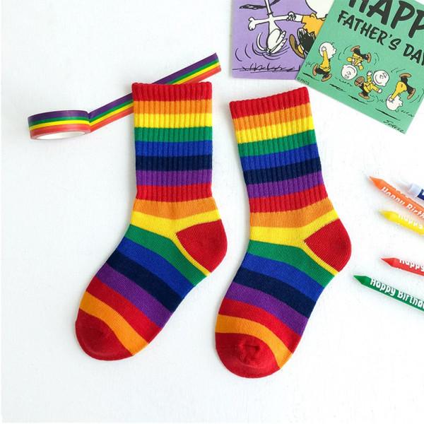 Flickor Barn Strumpor Sweet Rainbow L4 4