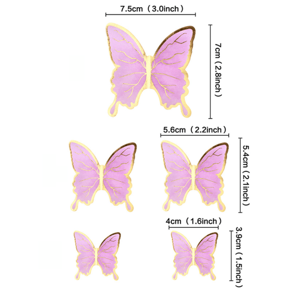Cake Toppers Butterfly 5 5