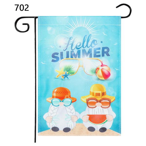 Garden Flag Beach Gnomes 702