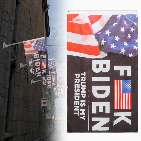 3x5FT F-ck Biden America Flag Trump är min president Trump