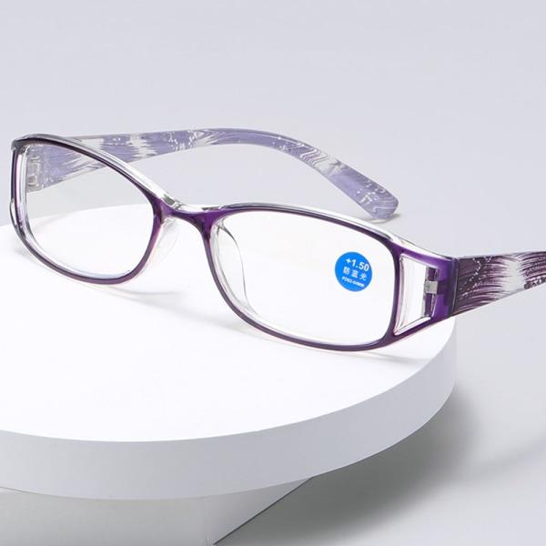 Läsglasögon Anti-blå ljusglasögon LILLA STYRKA 300 Purple Strength 300
