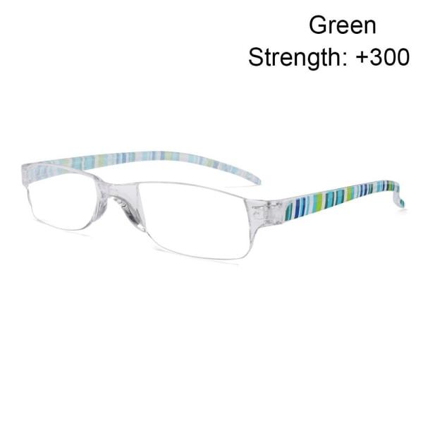 Läsglasögon Glasögon GRÖN STYRKA 300 green Strength 300