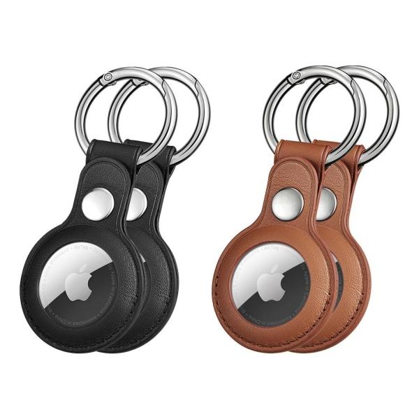 2-Pack Apple AirTag skal / fodral olika färger Brun