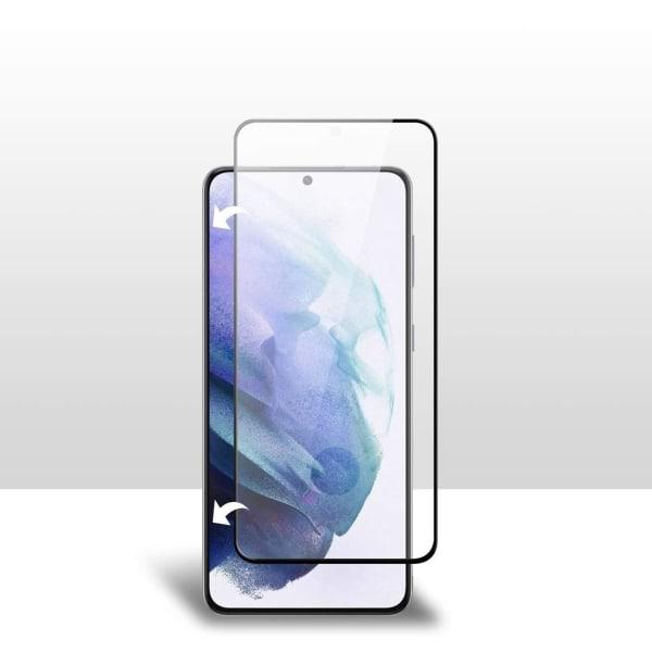 2-Pack C4U® Härdat Glas för Samsung Galaxy S21 Ultra Bubbelfritt Black Galaxy S21 Ultra