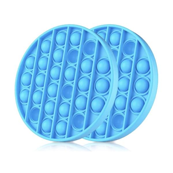 2-Pack Pop It - Fidget Toys - Flera Färger - Blå Blue 2pack - Blå