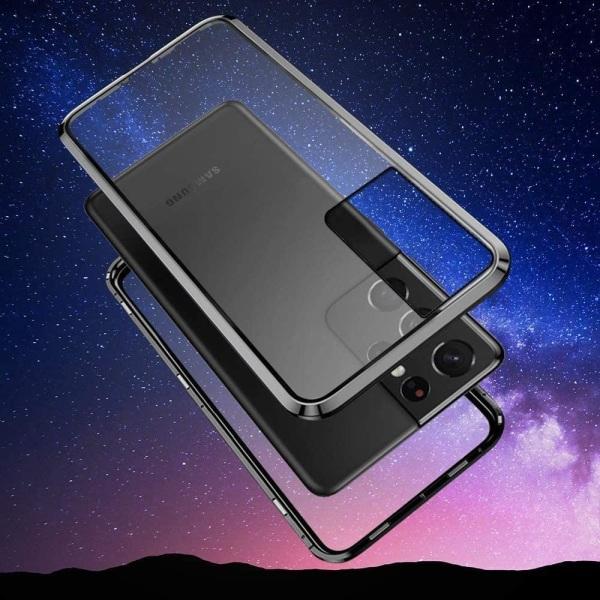Premium Galaxy S21+ Stötdämpande magnet Skal med glas C4U® Black Galaxy S21+