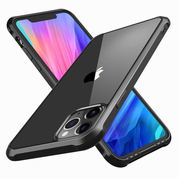 C4U® skal för iPhone 12 ShockBlack 12 Pro - Slimmat stötdämpande Black iPhone 12 / 12 Pro