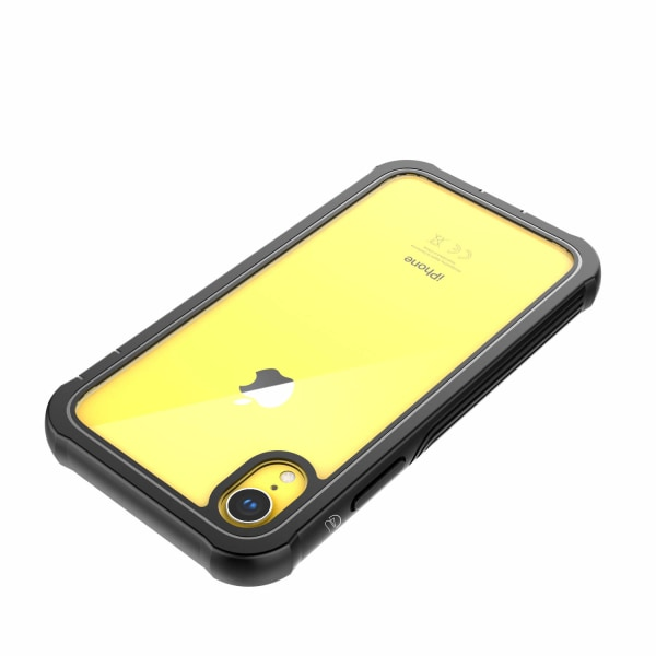 C4U® Shockproof Defence - iPhone XR - Stötdämpande skal 3i1 Svart