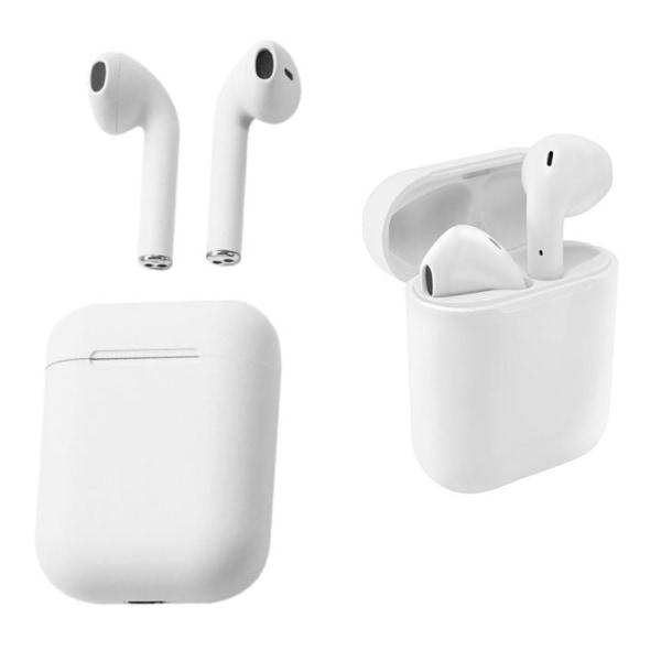 InPods - 12 TWS Bluetooth hörlurar upp till 6 timmar. White inPods 12 - White