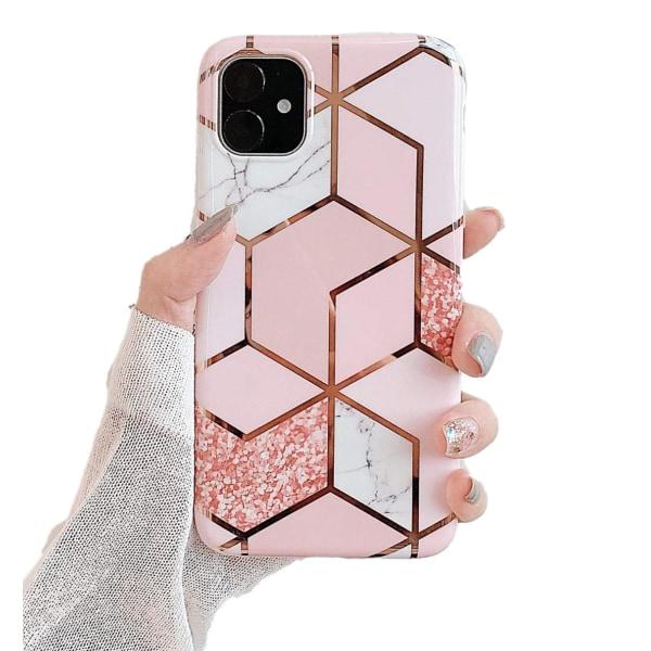 Marmor skal för iPhone 11- Lyx Glitter / Rosa C4U® Rosa