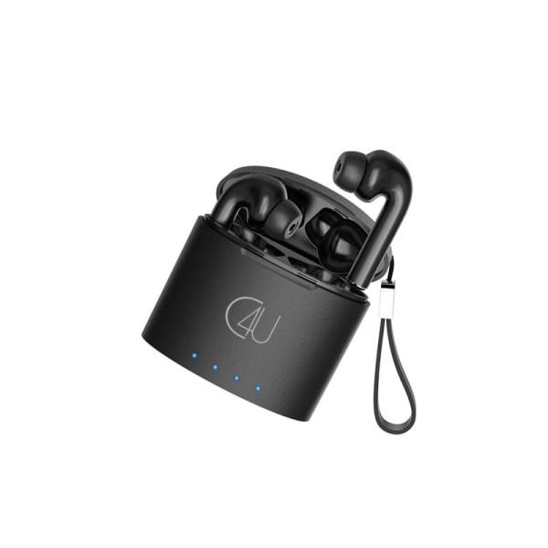 Trådlösa Bluetooth Hörlurar C4U® X290 Qi TWS med 24 timmar Svart