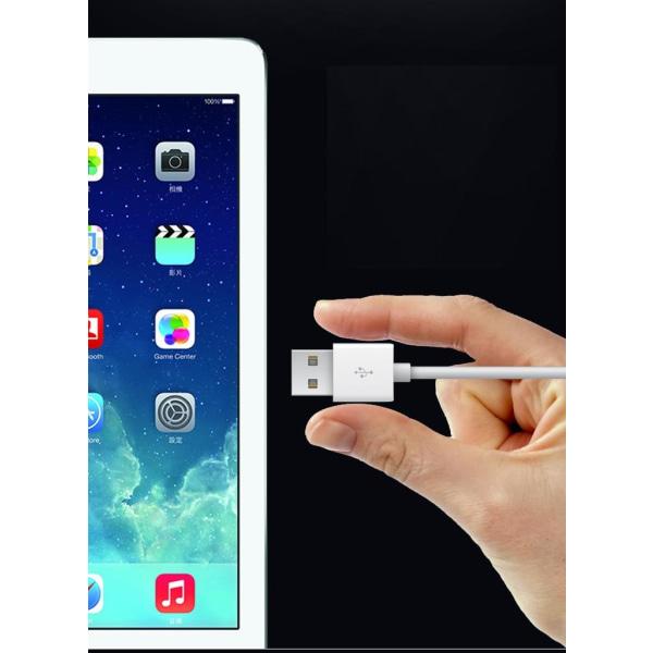 Laddningskabel USB till Micro-USB | Anpassat för Android enheter Vit