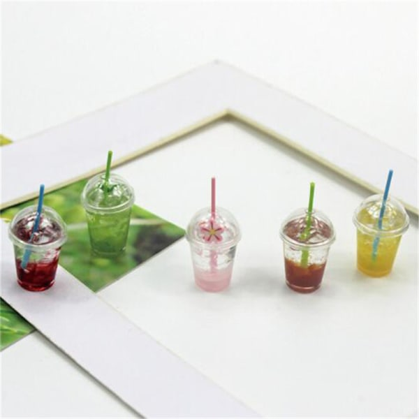 1:12 Dollhouse Miniature Mini Matcha Glass Leksaker Tillbehör