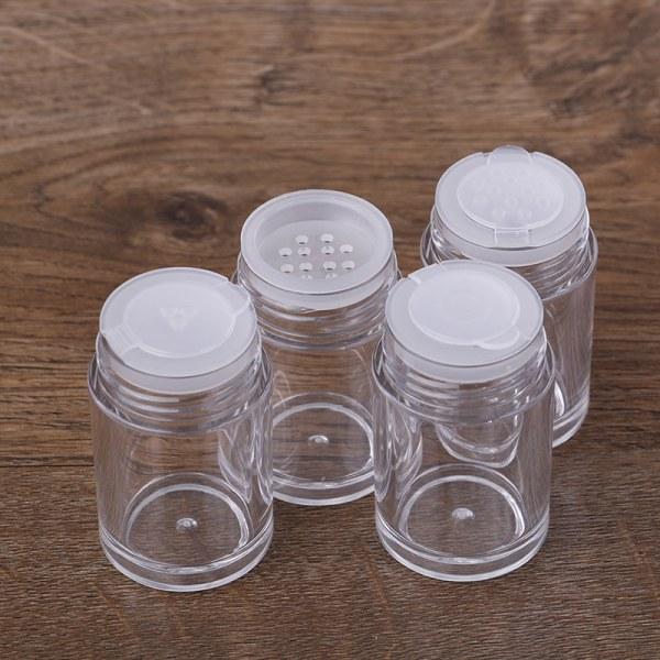 1 ~ 3st 10ml Vit tom kosmetisk siktburkbehållare s