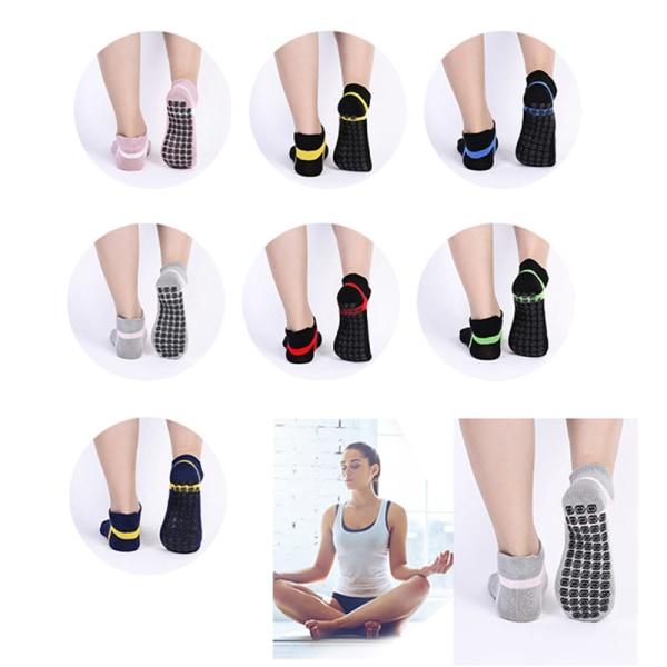 1 par kvinnas yogasockor Snabbtorkande halkskydd i silikonstrumpor Fitn