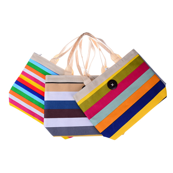 1 st kvinnors flickor stor randig sommar axel shopper tote c