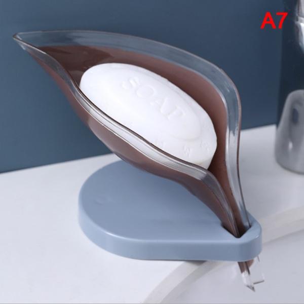 1 st bladform tvållåda badrum tvålhållare maträtt förvaringsplatta Brown