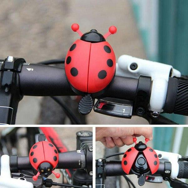 1 st cykel nyckelpiga klocka tecknad cykel klocka härlig barn cykel r Pink