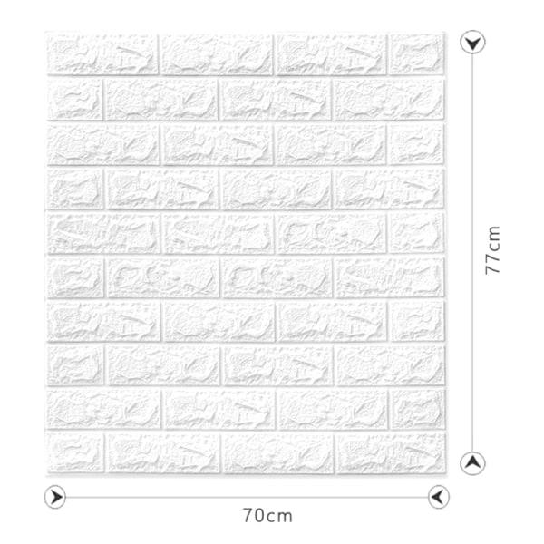 1 st tapeter självhäftande tredimensionella väggdekaler bedr Beige