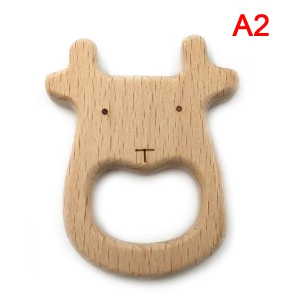 1 st trä er tecknad trä djur baby er leksak graverad A2
