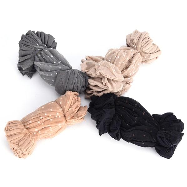 10 par genomskinliga tunna spetsstrumpor andas huden ren färg