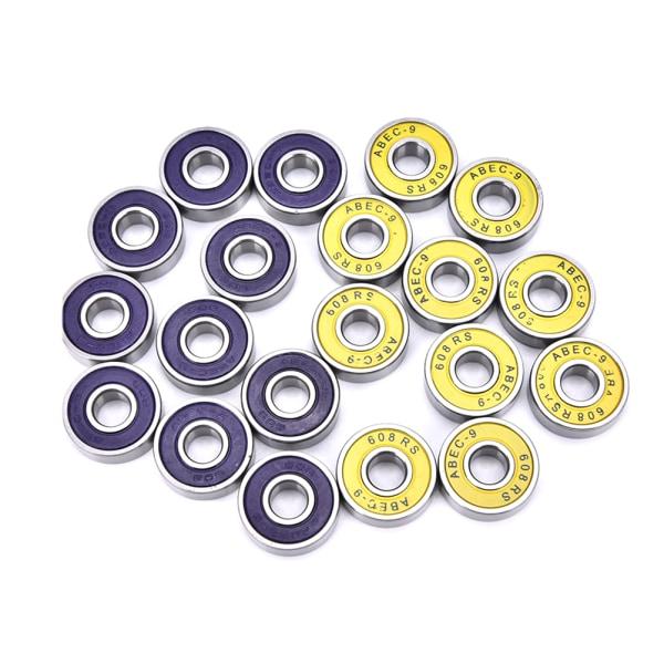 10 st abec 9 högpresterande rullskridskor skateboard w yellow