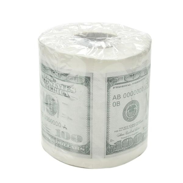 100,00 dollar - toalettpapperrulle med hundra dollar + 1 miljon