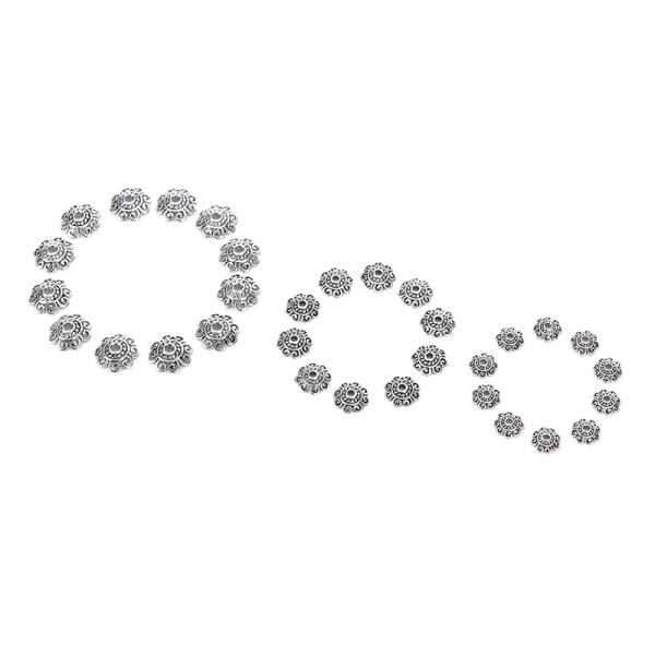100st antika silverblommor pärllock för smycken hantverk di