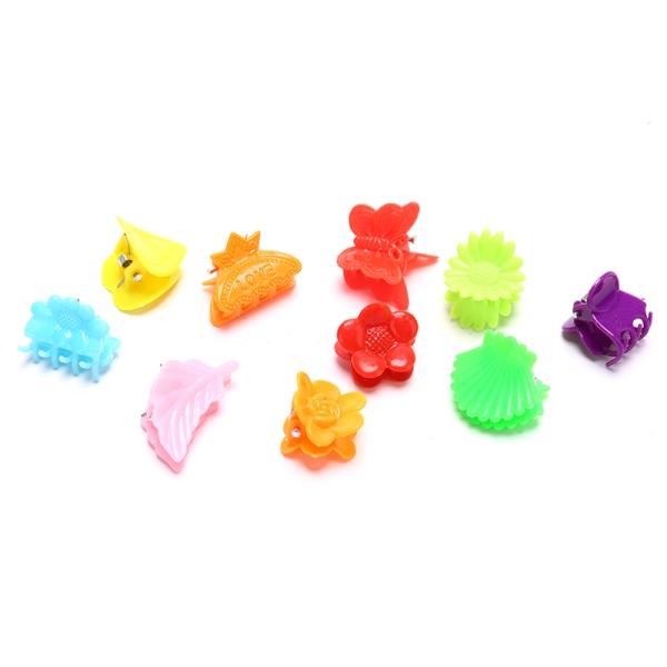 100st fjäril hårklämmor i blandad färg grepp klo barrettes mini A9