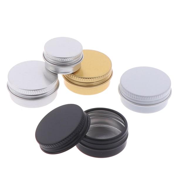 10st aluminiumburkbehållare kruka tenn tom vax läppbalsam kosmetik